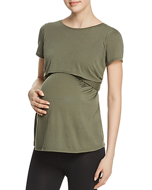 Ingrid & Isabel MATERNITY SHORT SLEEVE TIE WAIST TOP