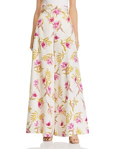 Amur - Ivory Radiant Floral Palazzo Pants