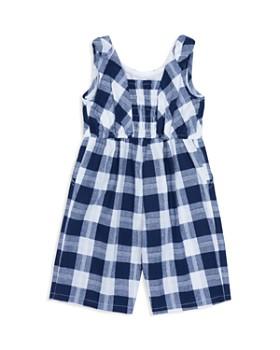Habitual Kids - Girls' Janice Checked-Plaid Jumpsuit - Little Kid