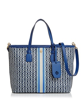 Tory Burch - Small Gemini Link Canvas Tote ... 862b7f09abd6f
