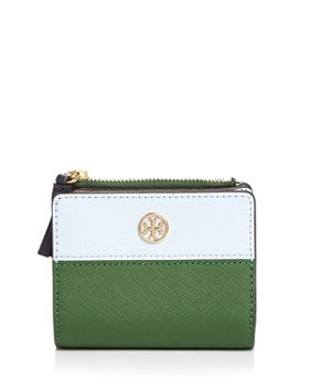 436416f33c76 Tory Burch - Robinson Mini Color-Block Leather Wallet ...