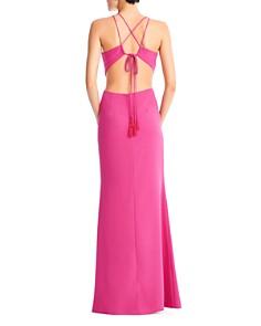 Aidan by Aidan Mattox - Crepe Cutout Gown