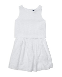 Ralph Lauren - Girls' Eyelet Top & Skirt Set - Big Kid