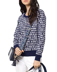MICHAEL Michael Kors - Peace & Love Graphic Sweater