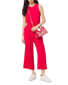7f40278f221 MICHAEL Michael Kors - Stretch-Crepe Belted Jumpsuit ...