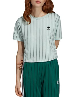 adidas Originals - Striped Crop Tee