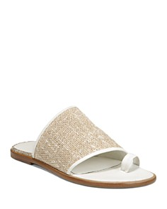 Vince - Women's Edan Linen Slide Sandals