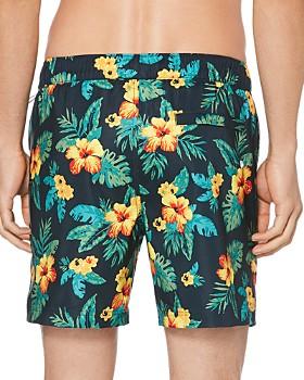 Original Penguin - Floral-Print Swim Shorts
