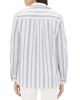 Lafayette 148 New York - Velma Striped Cotton Shirt