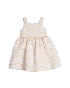 Pippa & Julie - Girls' Metallic-Chevron Dress - Baby