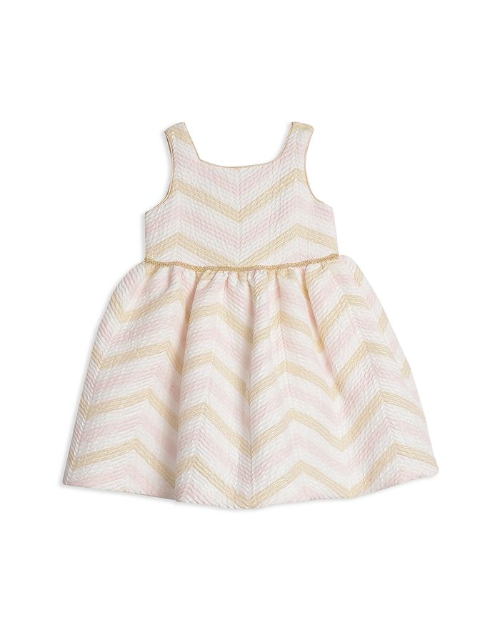 Pippa & Julie - Girls' Metallic-Chevron Dress - Baby