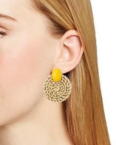 AQUA - Woven Circle Earrings - 100% Exclusive