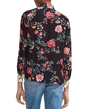 Maje - Ciller Patchwork Floral Print Shirt