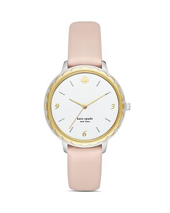 kate spade new york - Morningside Pink Leather Strap Watch, 38mm