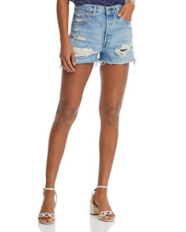 Levi's - 501 Cutoff Denim Shorts in Fault Line