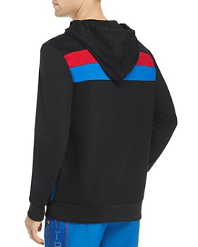 True Religion - Stripe-Accented Hooded Sweatshirt