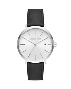 Michael Kors - Blake Black Leather Strap Watch, 42mm