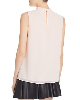 KARL LAGERFELD Paris - Embellished-Neck Top