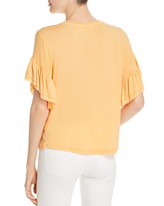 Scotch & Soda - Ruffled Short Sleeve Tee