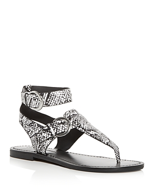 Sigerson Morrison Sandals WOMEN'S CAITLYN ANKLE-STRAP THONG SANDALS
