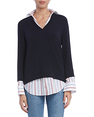 Bailey44 Sweaters TROMPE-L'OEIL LAYERED-LOOK SWEATER
