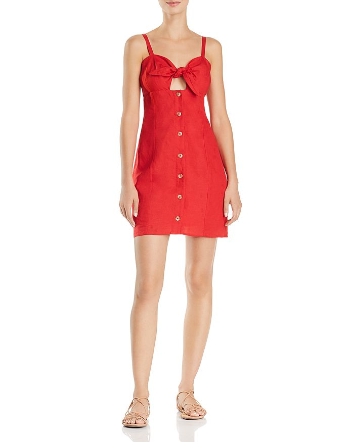 Red Carter - Tie-Front Cutout Dress