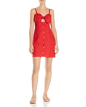 Red Carter Dresses TIE-FRONT CUTOUT DRESS