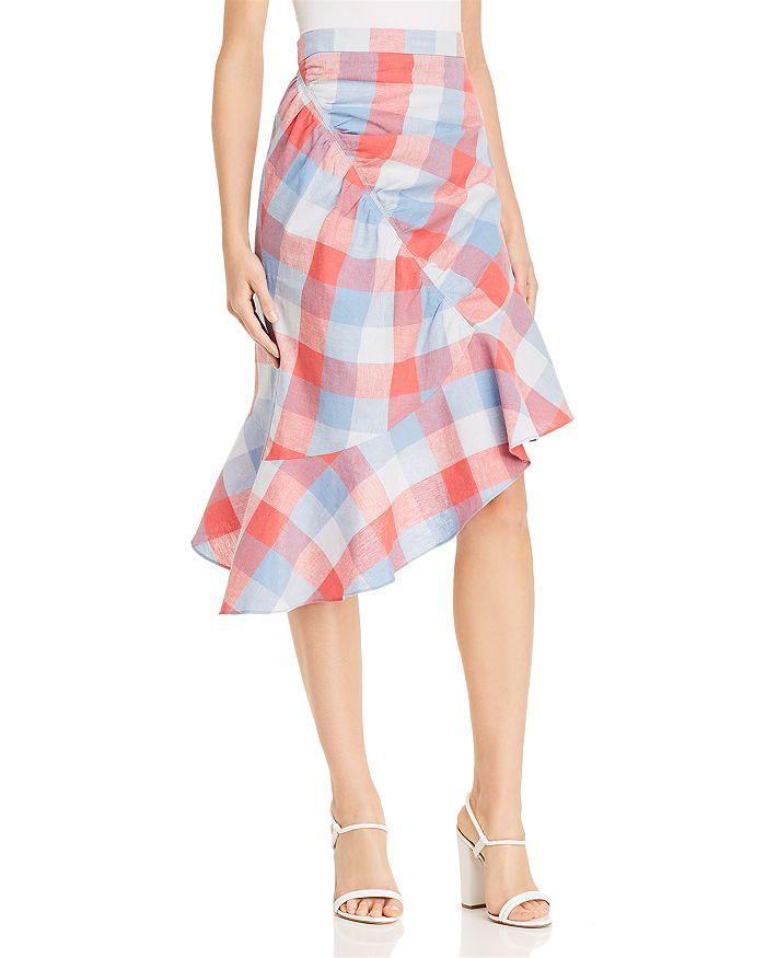 Parker - Astrid Plaid Asymmetric Skirt