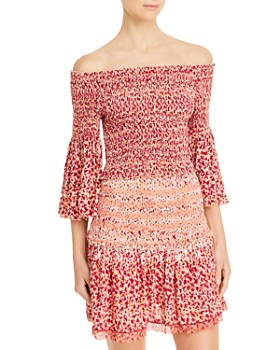 Poupette St. Barth - Paloma Smocked Cropped Top