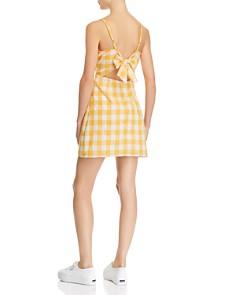 AQUA - Gingham Tie-Back Dress - 100% Exclusive