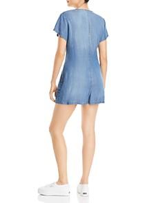 AQUA - Chambray Short Sleeve Button Romper - 100% Exclusive