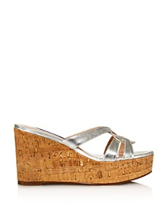 Stuart Weitzman - Women's Cadence Wedge Sandals