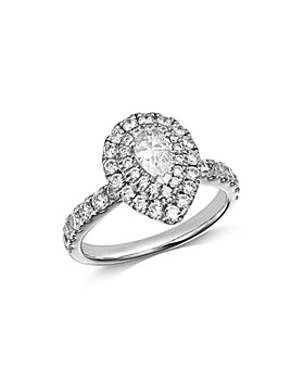 Bloomingdale's - Pear-Shaped Diamond Halo Ring in 14K White Gold, 1.5 ct. t.w. - 100% Exclusive