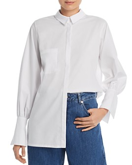 No Frills by Mother of Pearl - Faux Pearl Cuff Shirt