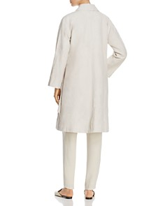 Eileen Fisher - Side-Tie Organic Linen Trench Coat - 100% Exclusive