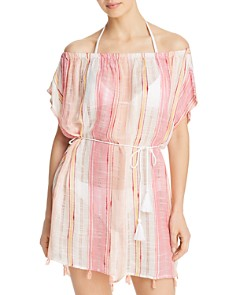 Echo - Boardwalk Stripe Caftan Swim Cover-Up