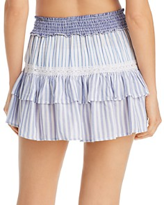 Surf Gypsy - Striped Combo Mini Skirt Swim Cover-Up