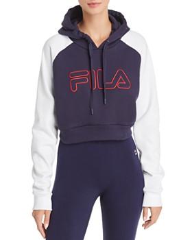 f1bd99a478a FILA - Valeria Cropped Hooded Sweatshirt ...