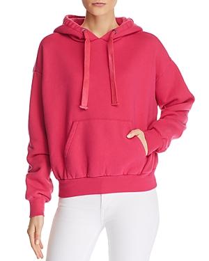 Pam & Gela T-shirts PLEAT-BACK HOODED SWEATSHIRT