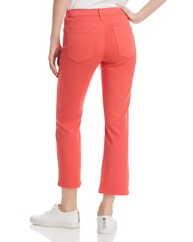 Current/Elliott - The Kick Cropped Flare Jeans in Poinsettia