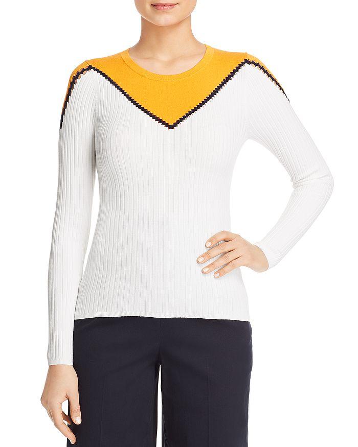 KAREN MILLEN - Color-Block Crewneck Sweater - 100% Exclusive
