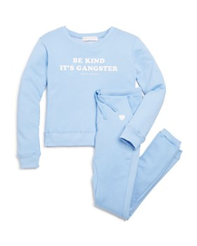 Spiritual Gangster - Girls' Heart Jogger Pants & Kind Crewneck Sweatshirt - Little Kid, Big Kid