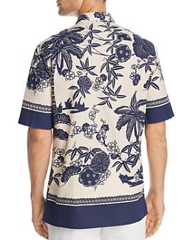 Scotch & Soda - Short-Sleeve Floral Border-Print Regular Fit Shirt