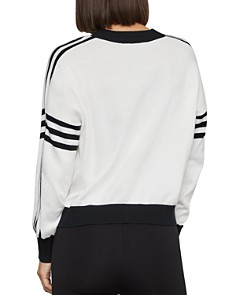 BCBGMAXAZRIA - Striped Logo Sweater