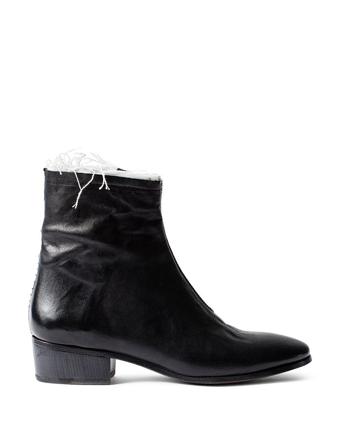 Zadig & Voltaire - Women's Break Distressed Leather Ankle Boots