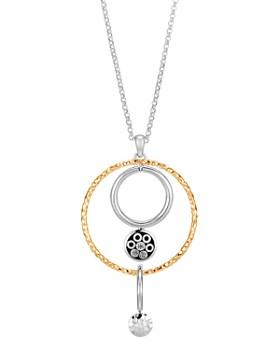 "JOHN HARDY - 18K Yellow Gold & Sterling Silver Dot  Long Drop Pendant Necklace, 36"""