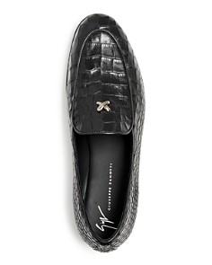 Giuseppe Zanotti - Men's Croc-Embossed Leather Apron-Toe Loafers