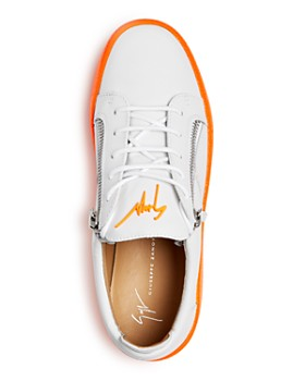 Giuseppe Zanotti - Men's Frankie Fluo Leather Low-Top Sneakers