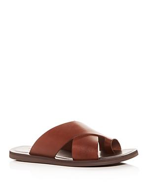 Men's Ideal Leather Toe-Ring Slide Sandals