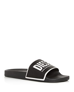 Diesel - Men's Sa-Valla Logo Slide Sandals